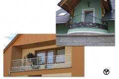 balkónové zábradlí