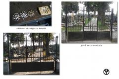restaurování hřbitovní brány