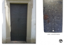 restaurované dveře kaple