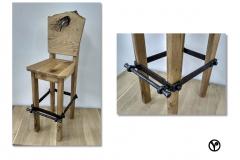 kování designové židle
